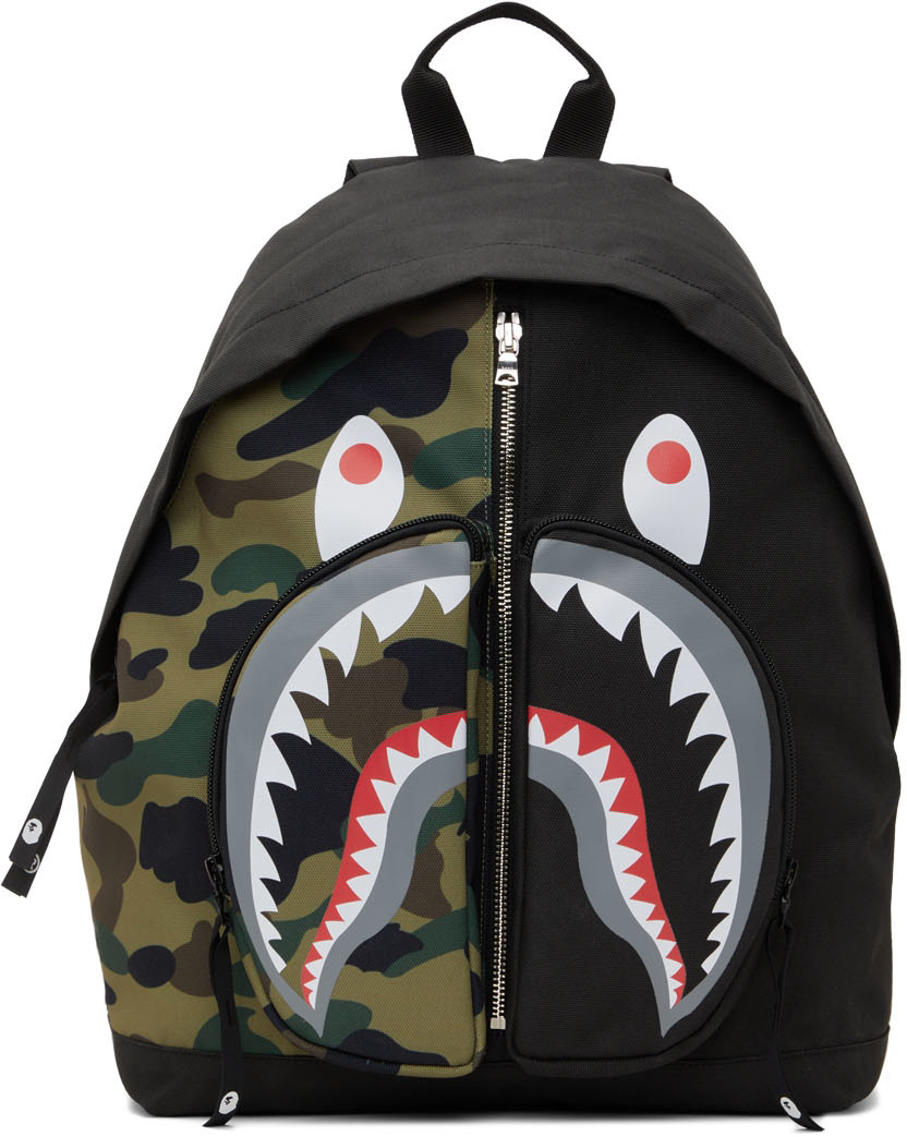 Black 1st Camo Shark Day Backpack