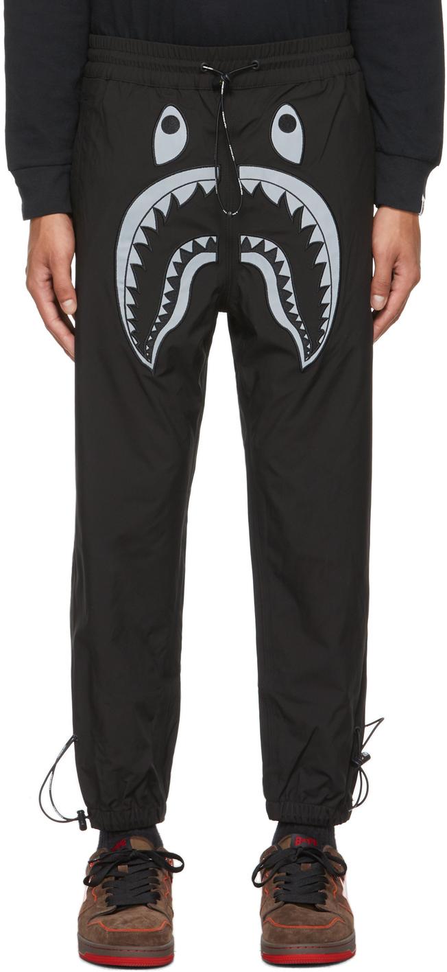 Black Reflective Shark Lounge Pants