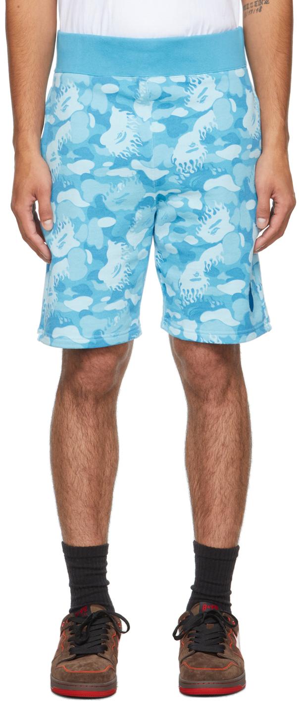 Blue Fire Camo Shorts