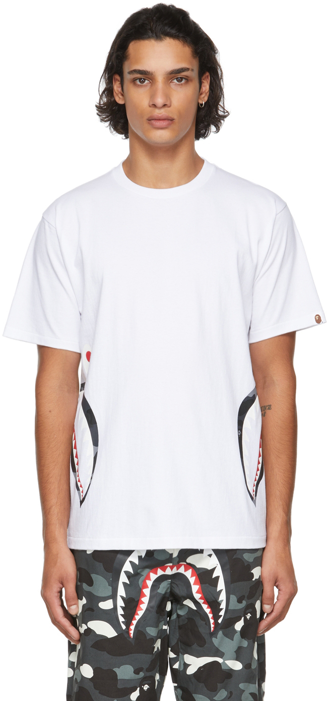 White Camo Side Shark T-Shirt