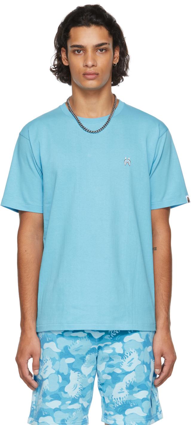 Blue Shark One Point T-Shirt
