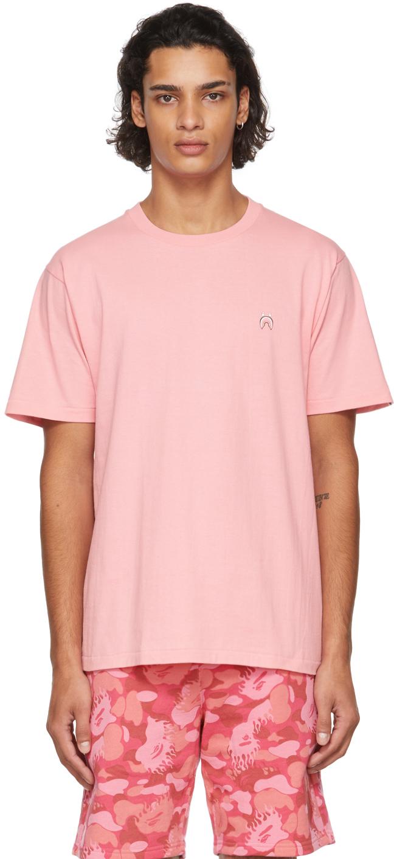 Pink Shark One Point T-Shirt
