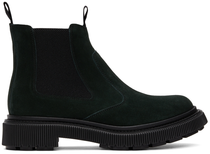 Green Suede Type 156 Chelsea Boots
