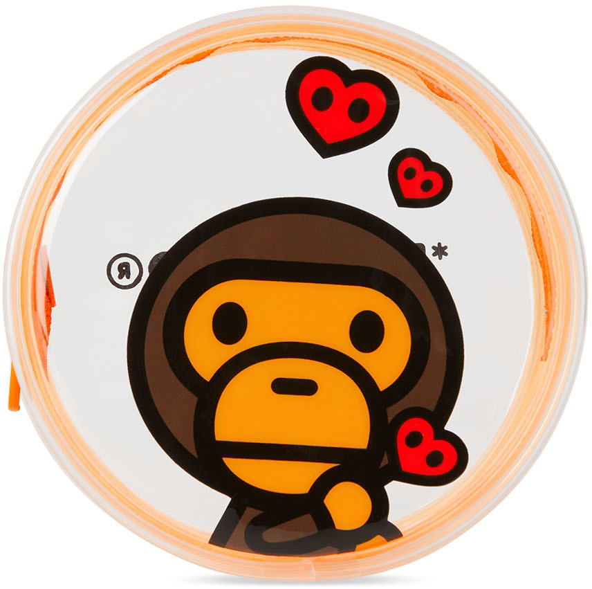 Orange Logo PVC Wide Pouch