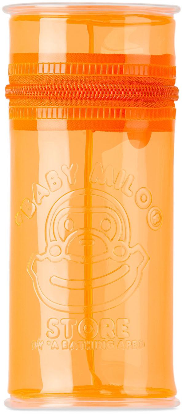 Orange Logo PVC Tall Pouch