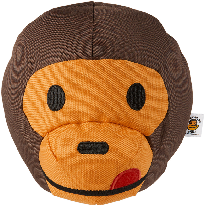 Brown Classic Baby Milo Head Dog Toy
