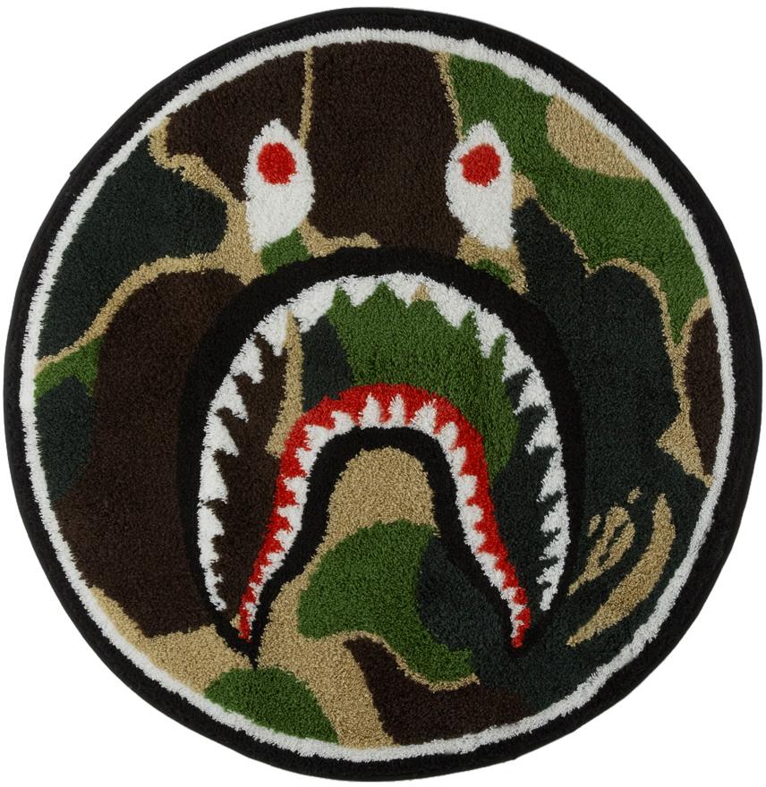 Multicolor Camo ABC Shark Rug
