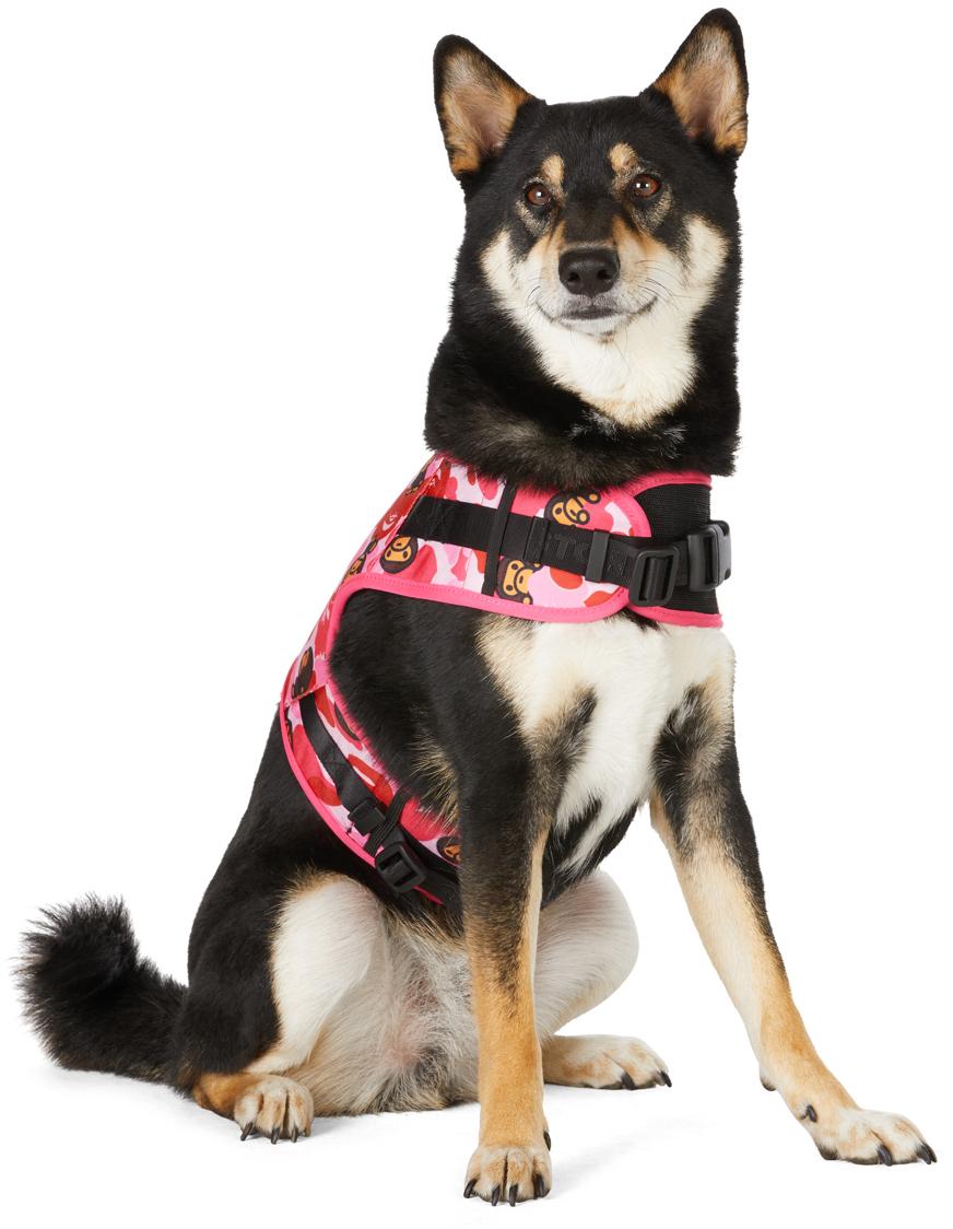Pink Baby Milo Camo ABC Dog Harness