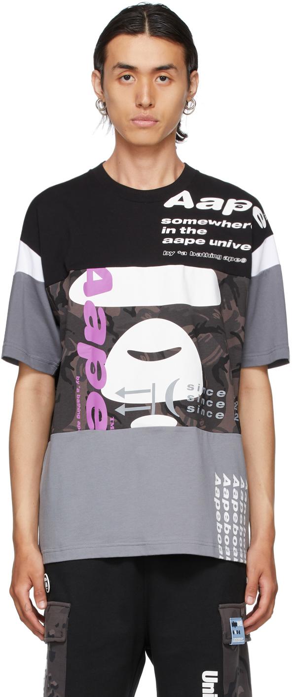 Black & Grey Camo Graphic T-Shirt
