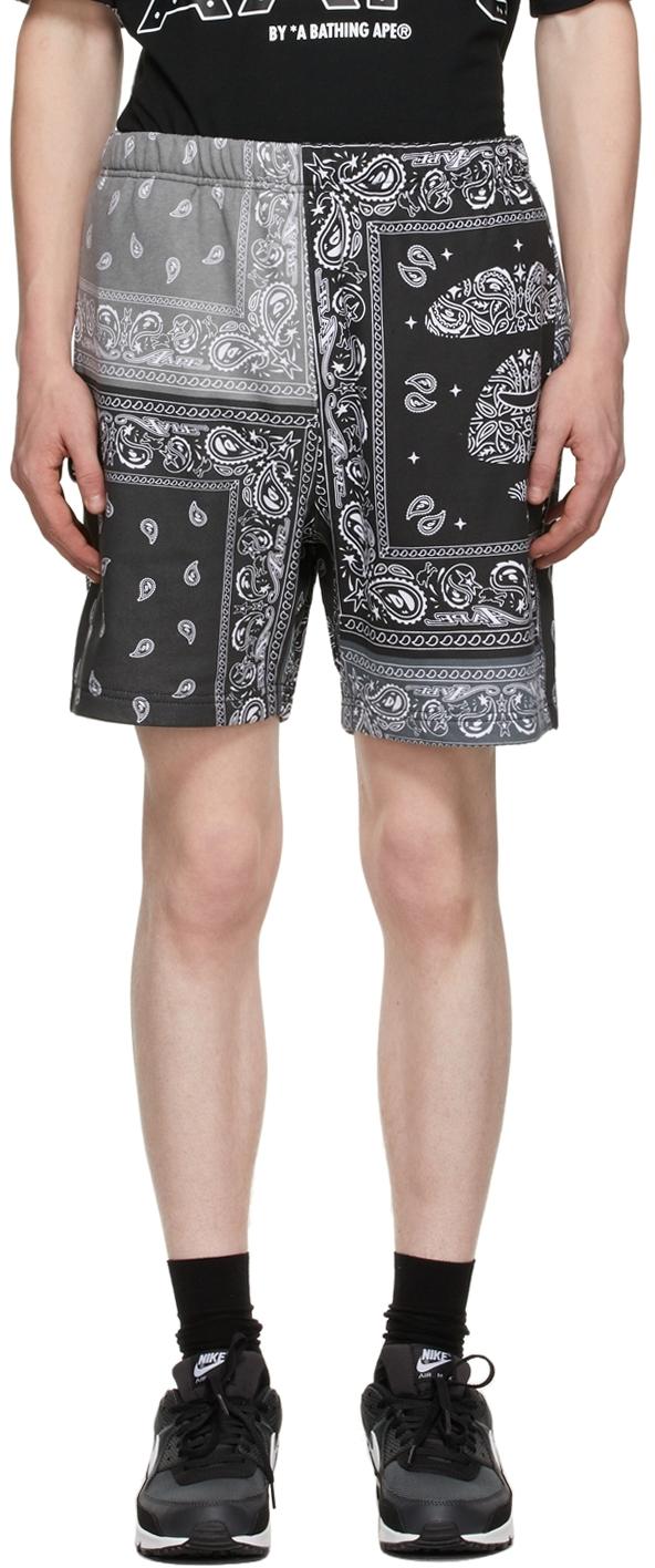 Black Bandana Sweat Shorts