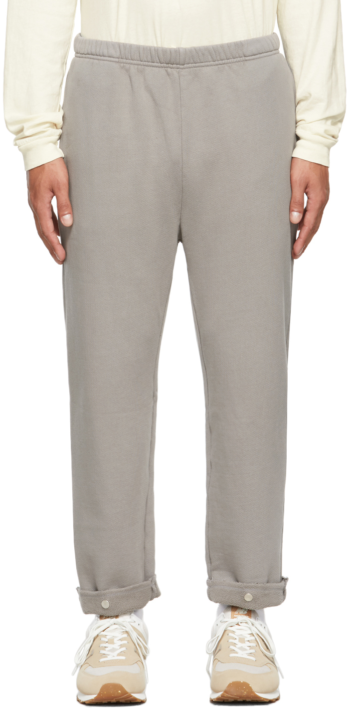 Grey Snap Front Lounge Pants