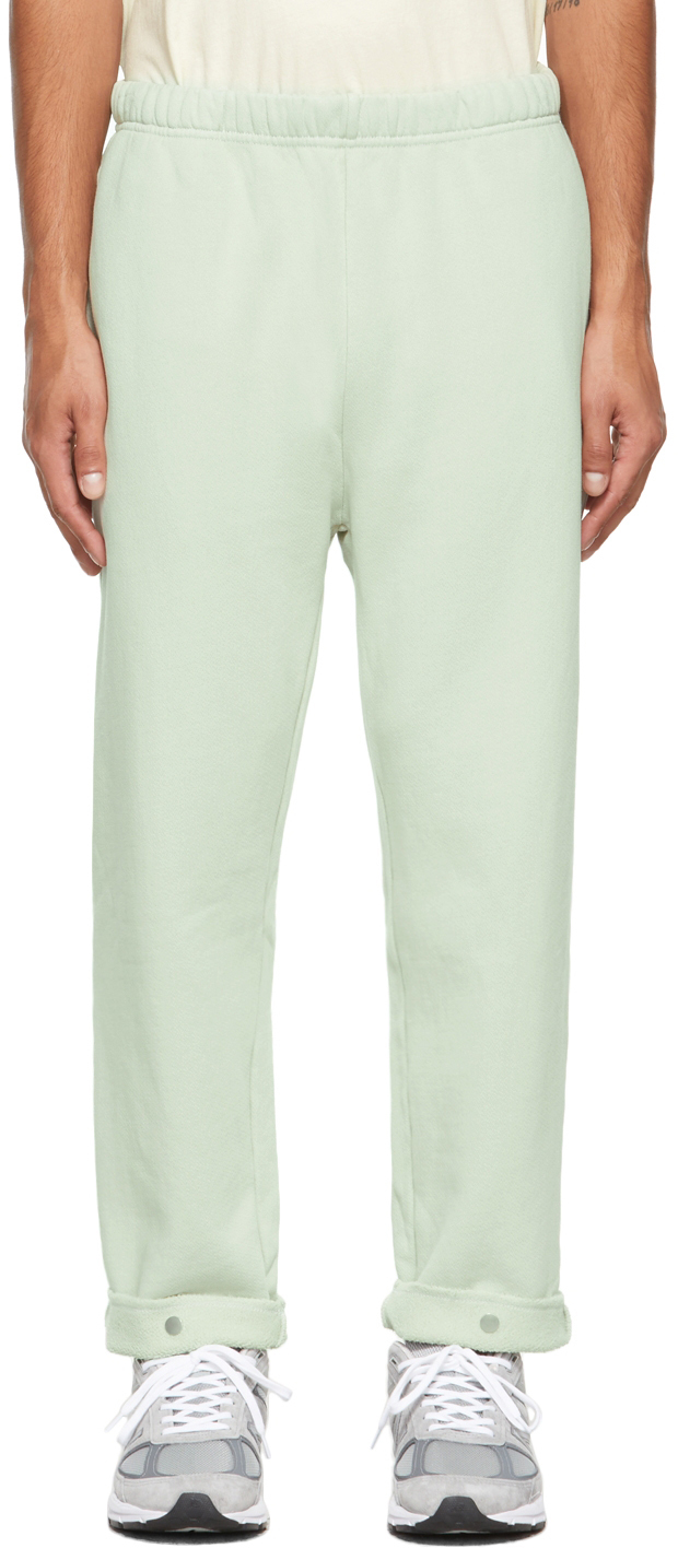 Green Snap Front Lounge Pants