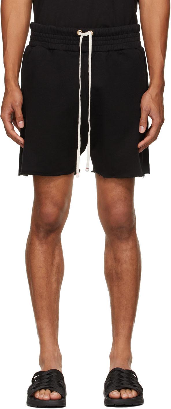 Black Heavyweight Yacht Shorts