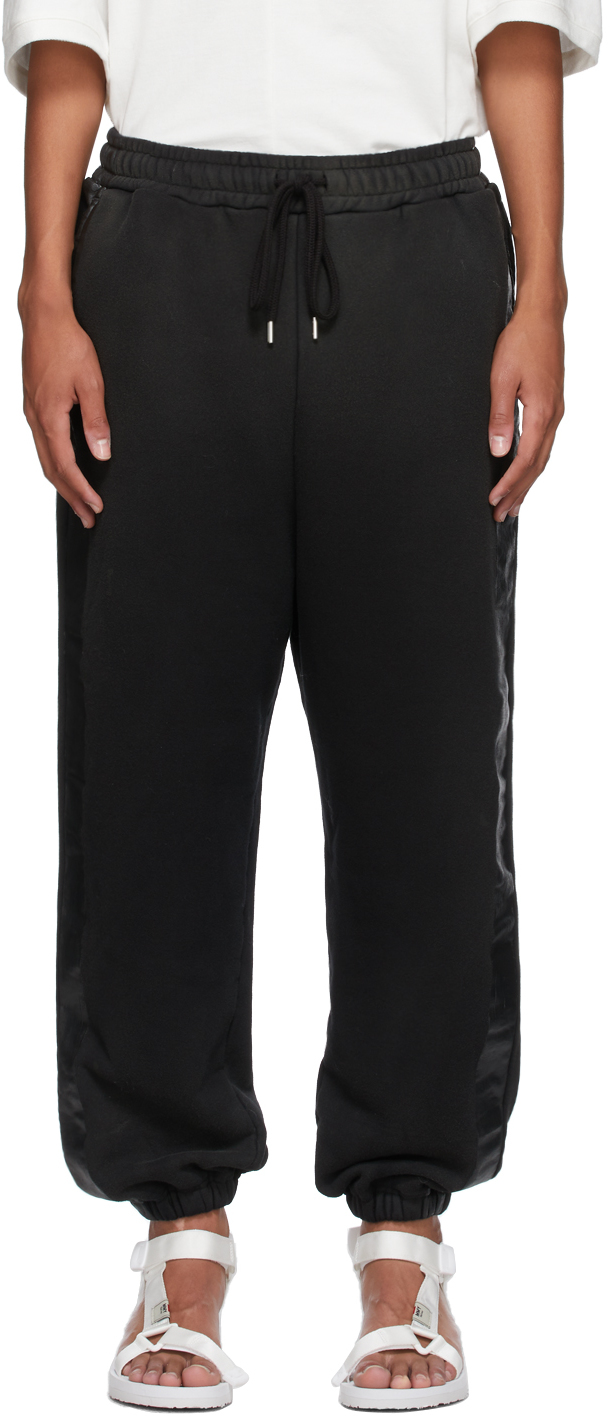 Miharayasuhiro Black Side Tape Sweatpants
