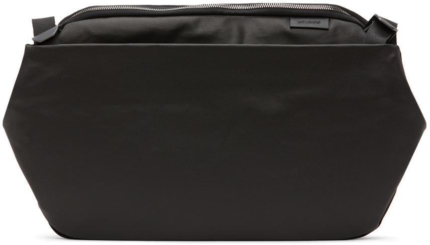 Côte&Ciel Black Coated Canvas Riss Messenger Bag