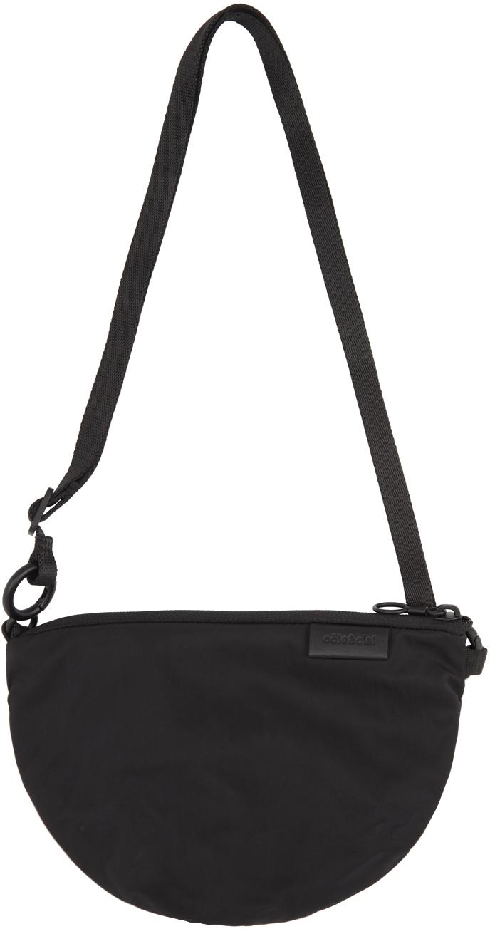 Côte&Ciel Black Orba Messenger Bag