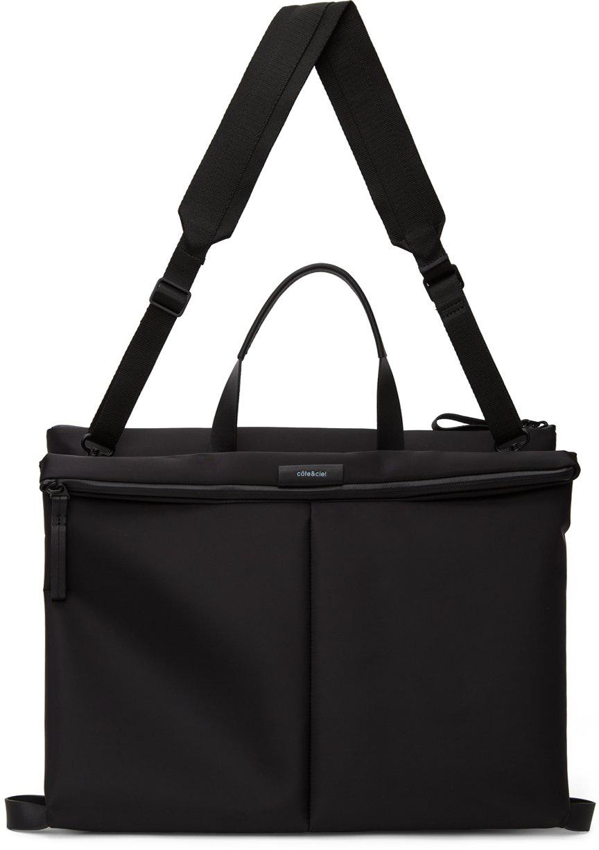 Côte&Ciel Black Orga Messenger Bag