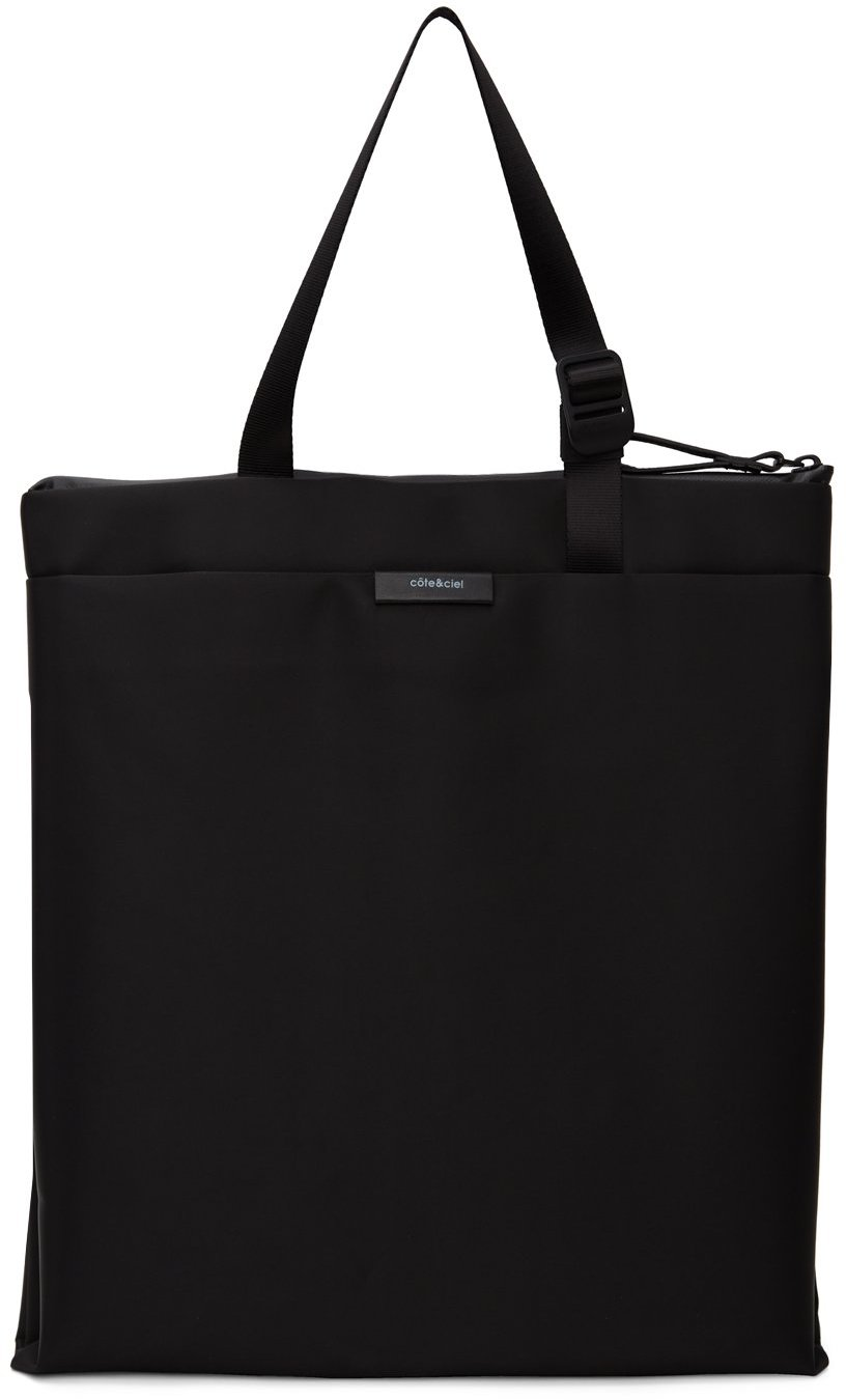 Côte&Ciel Black Salm Sleek Tote Bag