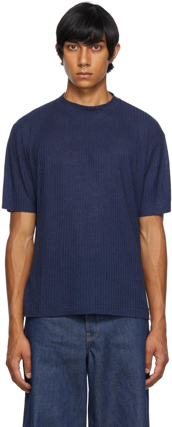 King & Tuckfield Navy Mock Neck T-Shirt