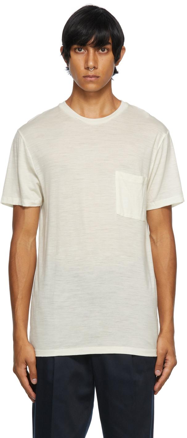 Off-White Merino Wool Pocket T-Shirt