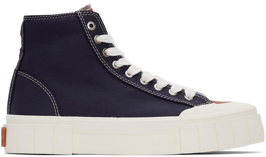 Burgundy & Navy Palm High Sneakers