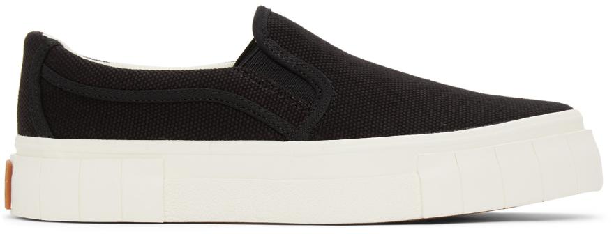 Black Yess Slip-On Sneakers
