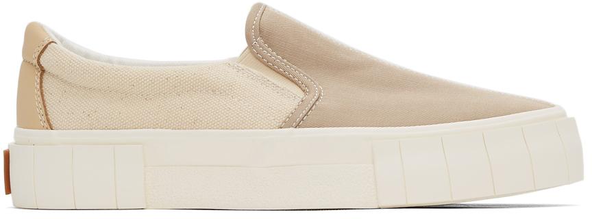 Beige Yess Slip-On Sneakers