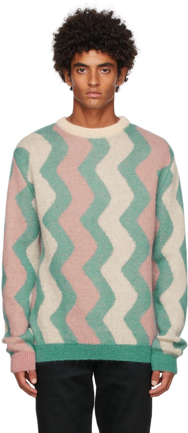 Drôle De Monsieur Multicolor 'La Maille Mohair Zig Zag' Sweater