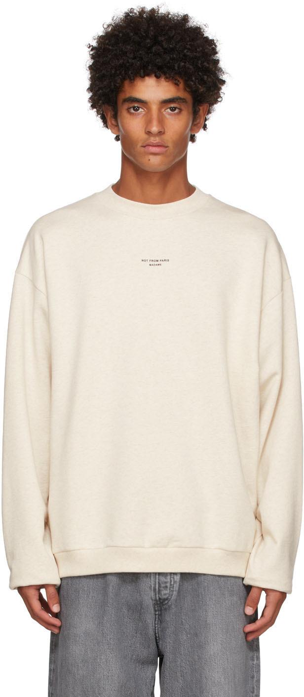 Drôle De Monsieur Beige 'Le Sweatshirt NFPM' Sweatshirt