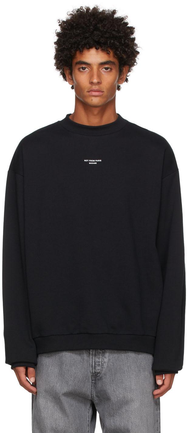 Drôle De Monsieur Black 'Le Sweatshirt NFPM' Sweatshirt