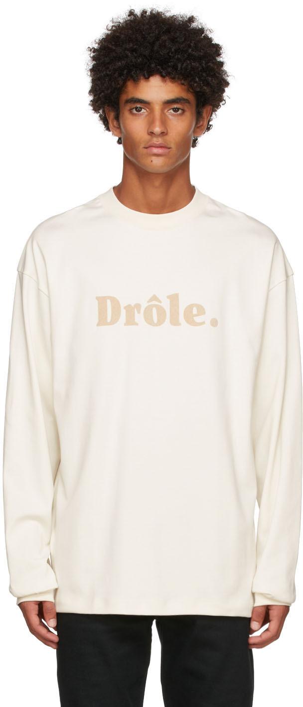Drôle De Monsieur Off-White 'Le T-Shirt Drôle' Long Sleeve T-Shirt