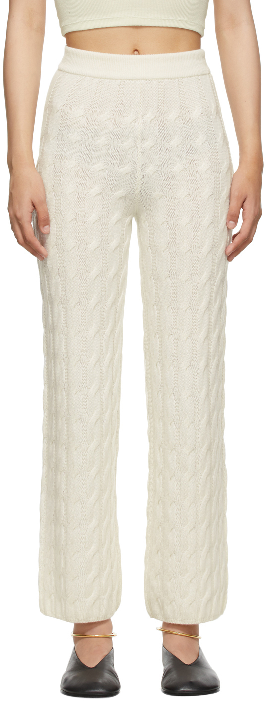 Off-White Cashmere 'The Myra' Lounge Pants