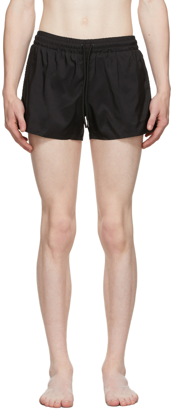 Black Short Length Swim Shorts