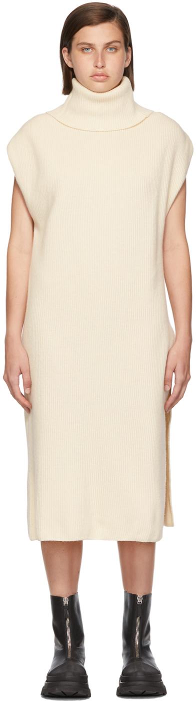 Off-White Cashmere Turtleneck Dress
