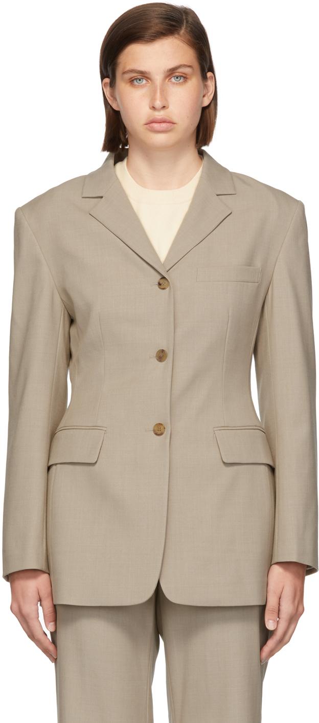 Grey Wool Eltra Three-Button Blazer