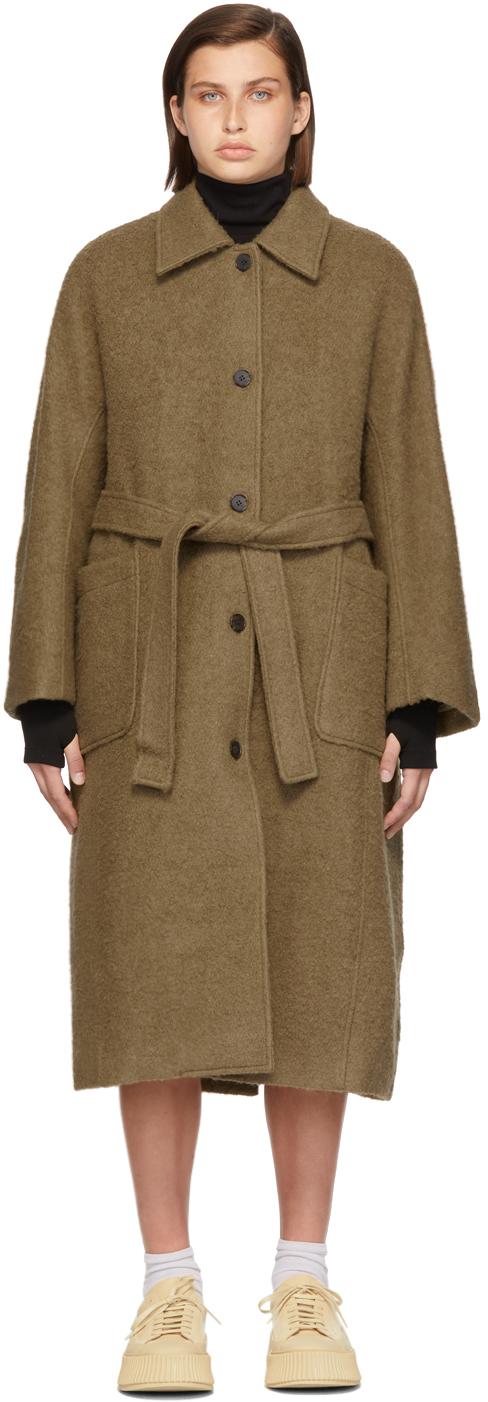 Khaki Alpaca One Coat