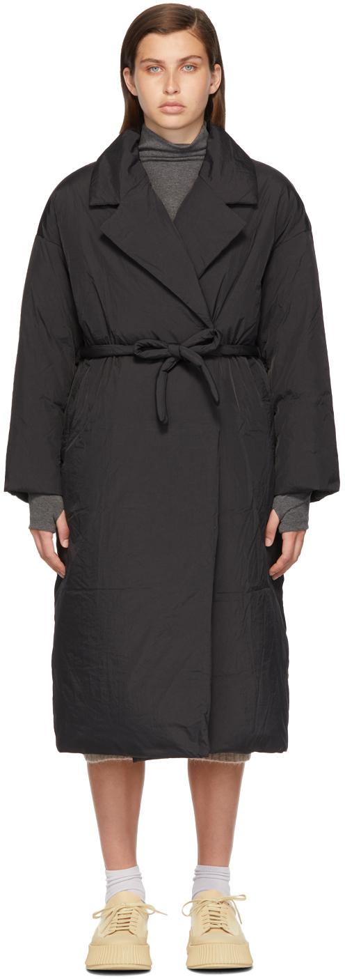 Black Down Belted Coat