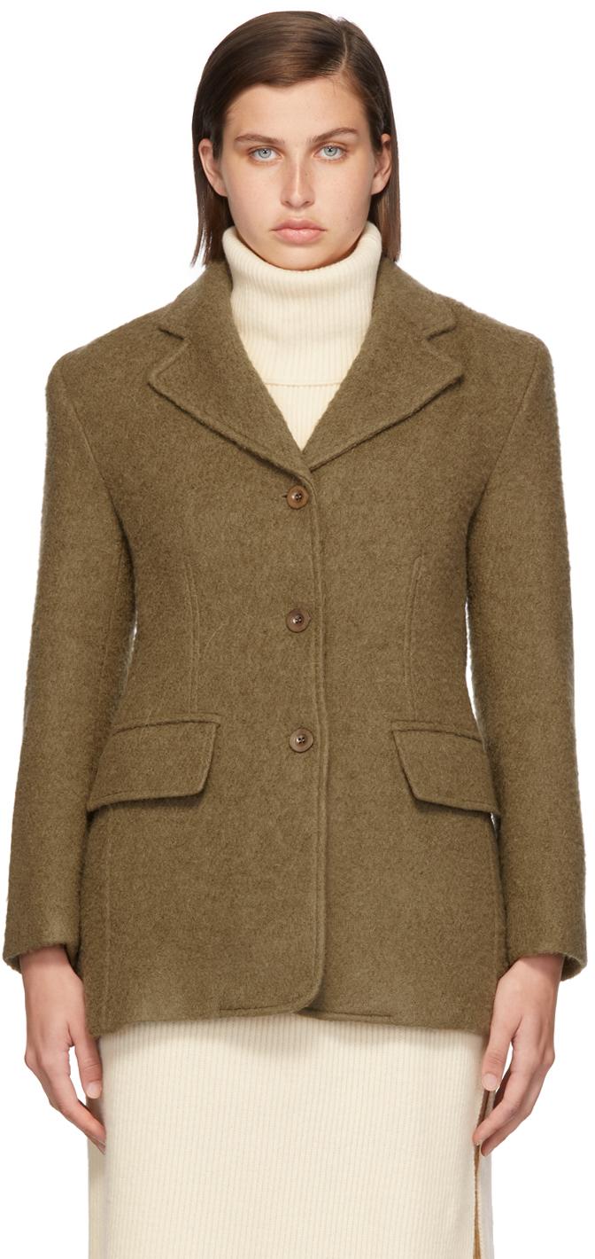 Khaki Alpaca One Jacket