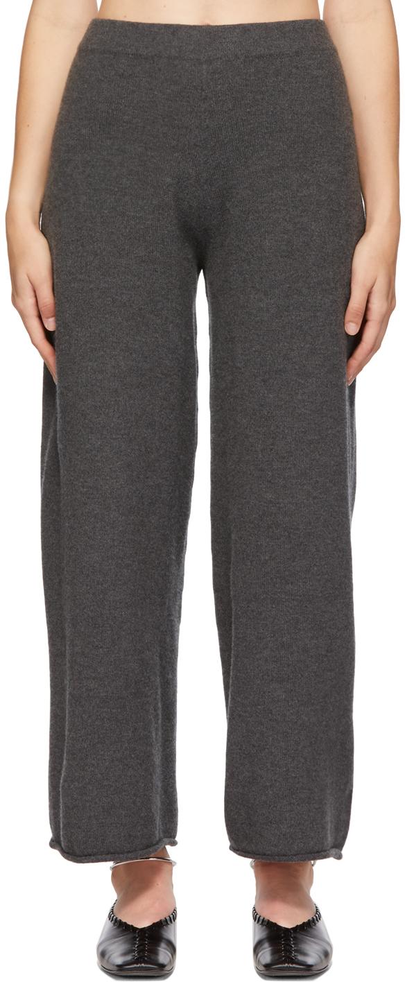 Grey Whole Garment H Wool Lounge Pants