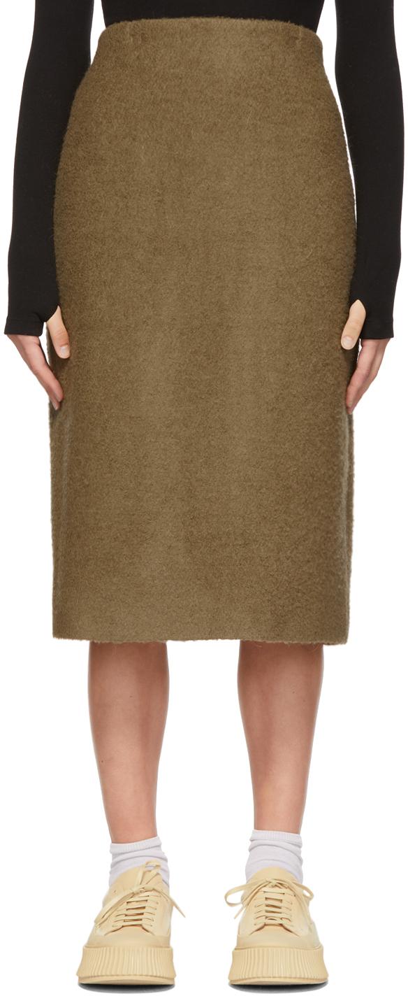 Khaki Alpaca One Skirt