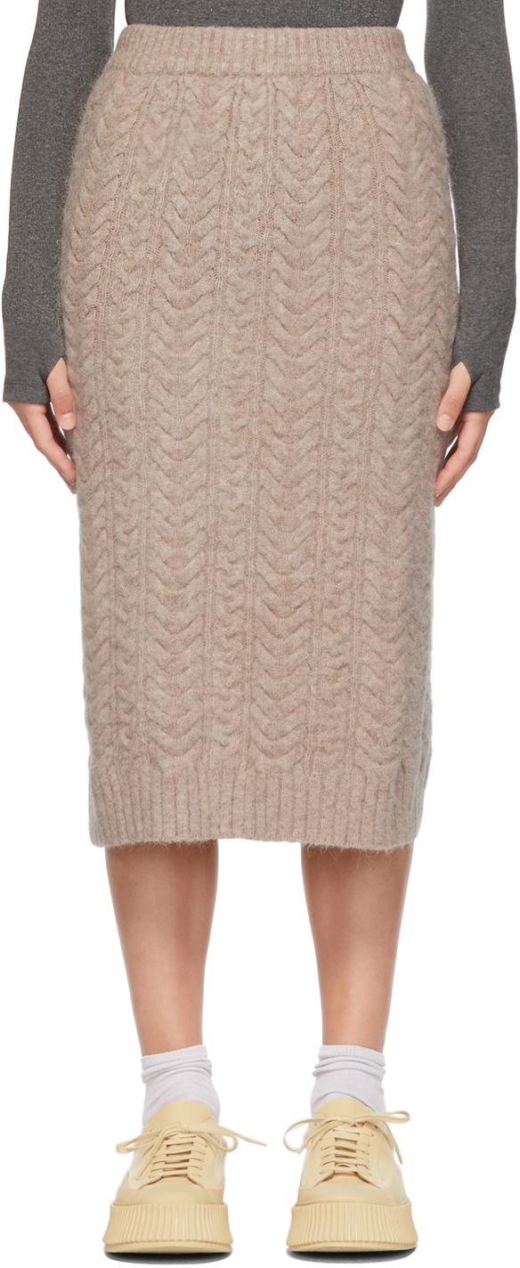 Taupe Alpaca Ork Skirt