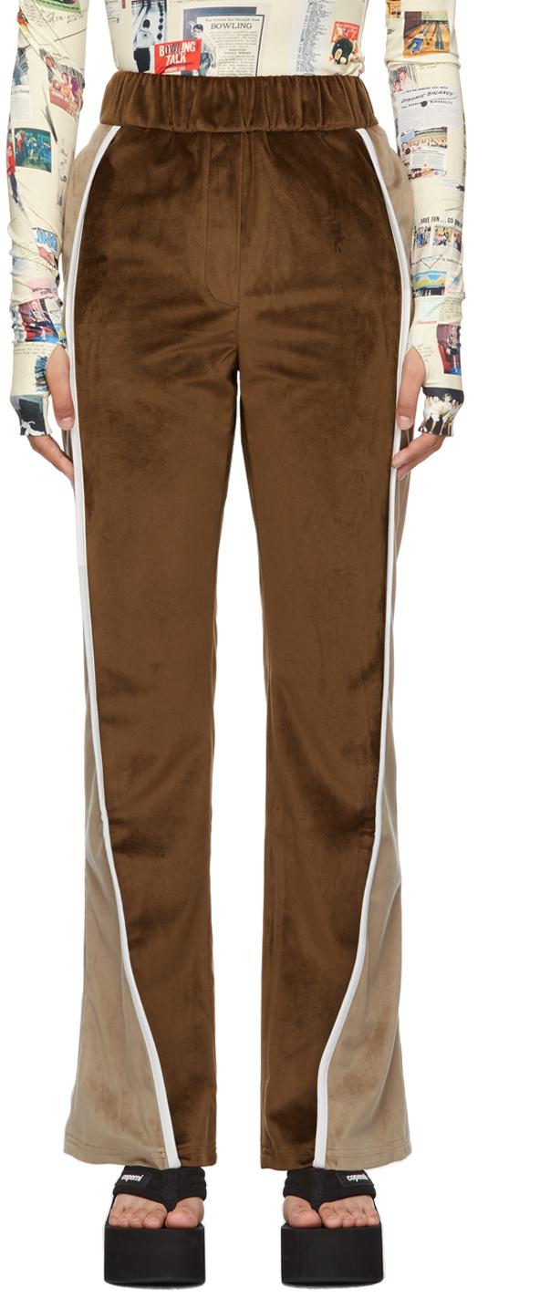 Brown Bowler's Track Pants