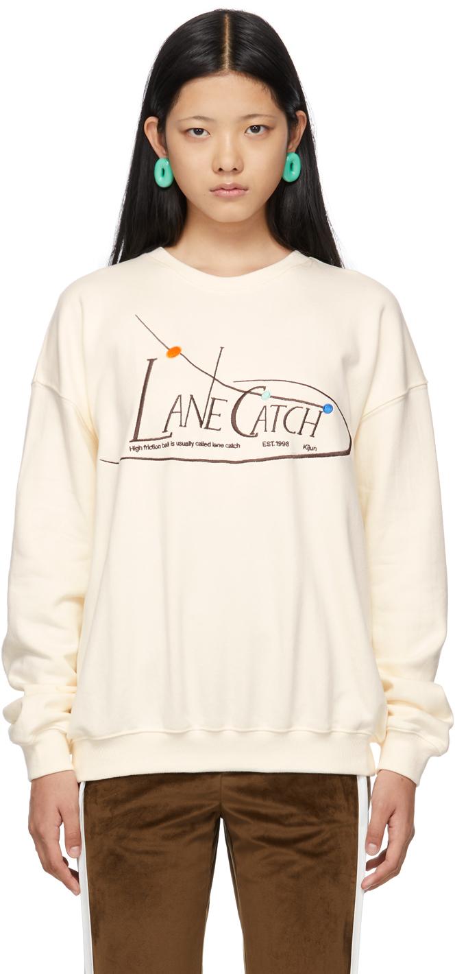 Beige 'Lane Catch' Sweatshirt