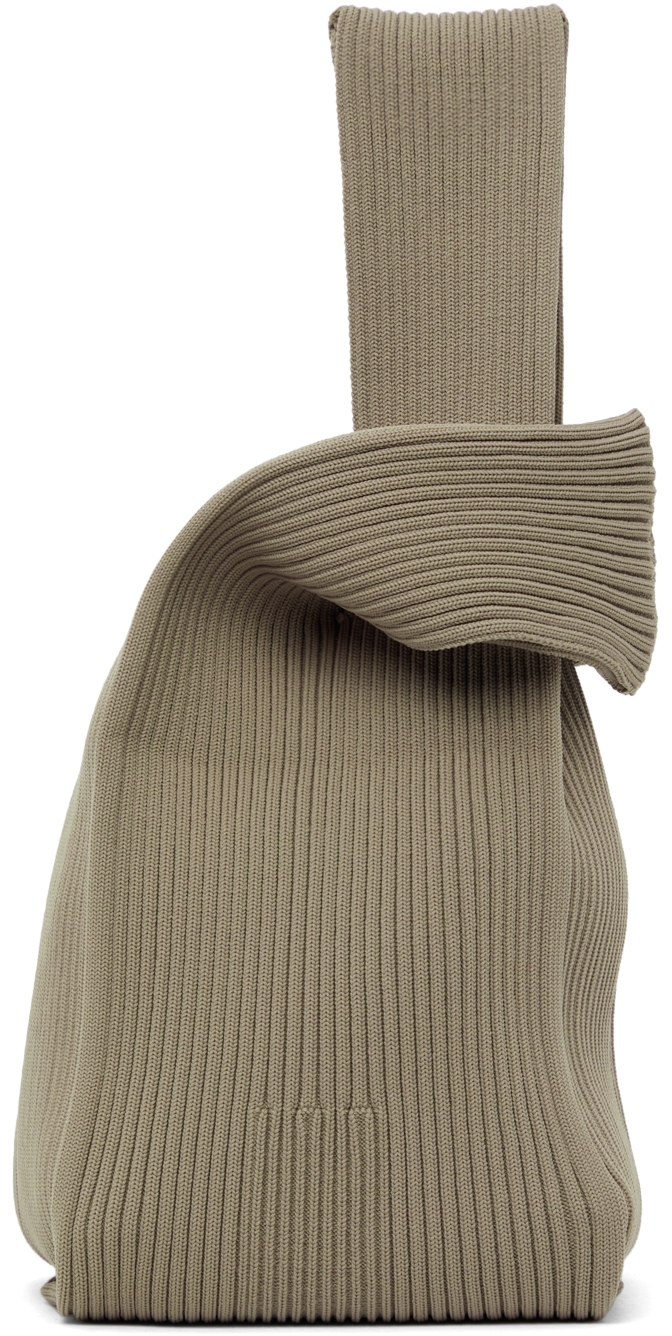 Taupe Notched Rib Tote