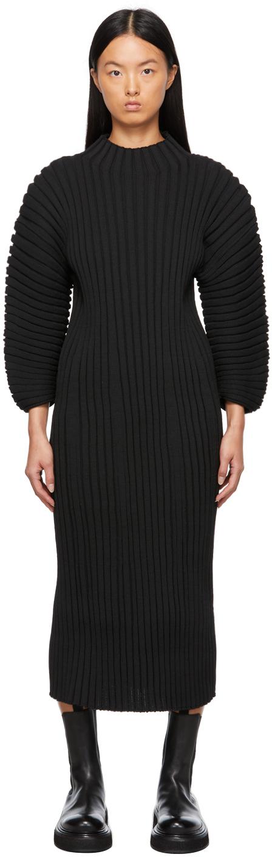 Black Column Dress