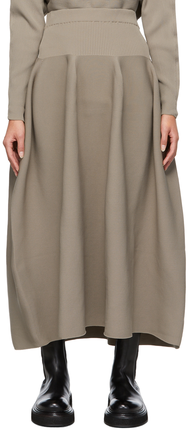 Taupe Pottery Skirt