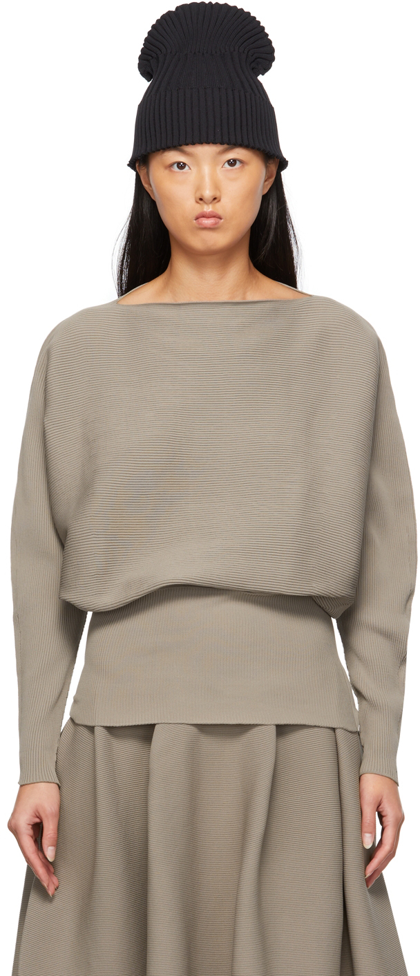 Taupe Pottery Sweater