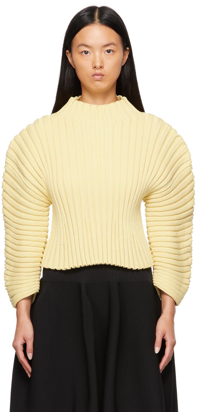 Yellow Column Sweater