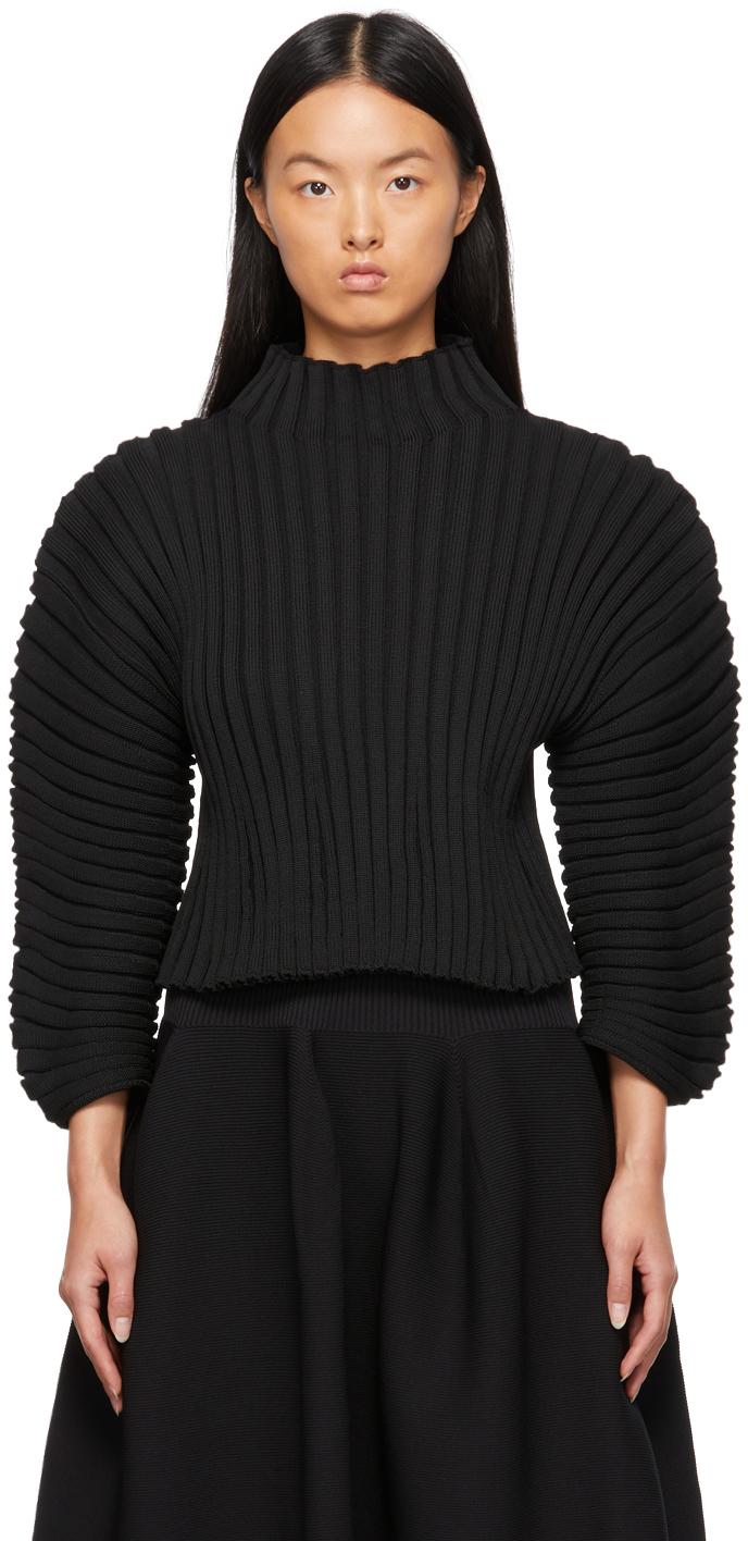 Black Column Sweater