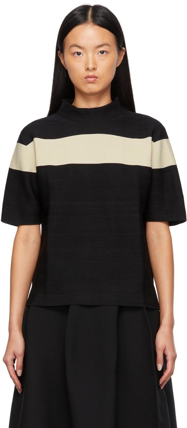 Black & Taupe Garter T-Shirt